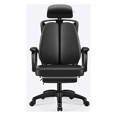 Startseite Ergonomischer Stuhl Bürostuhl Aufzug Boss Stuhl Sitzrückenlehne Double zurück Stuhl Drehstuhl Computer Stuhl Black