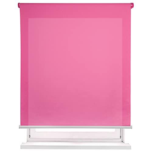 MERCURY TEXTIL-Estor Enrollable translúcido Liso (Fucsia, 150x180cm)