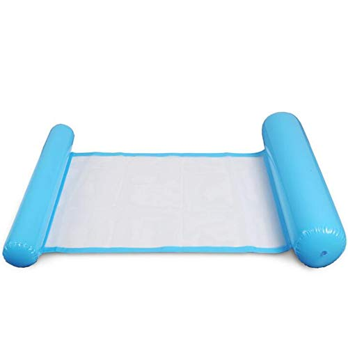 2PCS Multi-Purpose Inflatable Pool Float, Portable Float Chair 4-in-1 Design, Swimming Pool Sling Water Lounge Environmentally Friendly PVC Material,blue