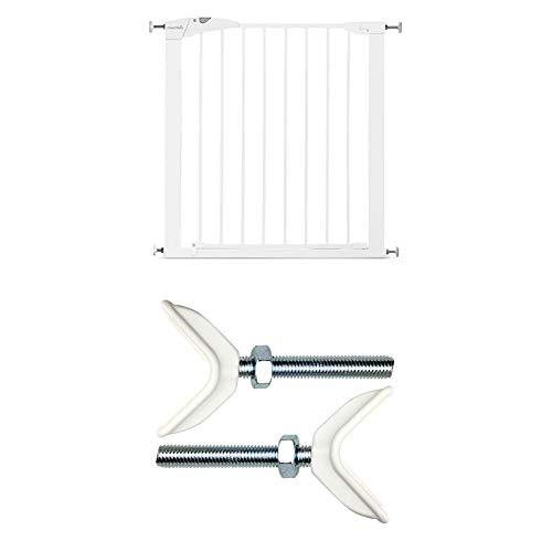 Munchkin Maxi-Secure Tür-/Treppenschutzgitter mit Y-Spindel zur Befestigung an Treppengeländern, Öffnungen von 76 - 82 cm