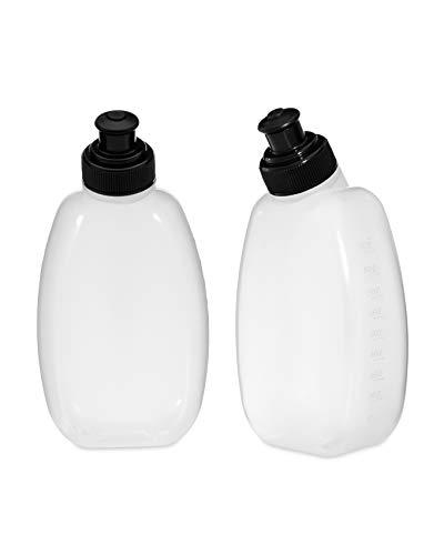 BRINGIT Sport Running Belt Water Bottles, 2-Pack of 10 OZ Bottles, Fits Running Hydration Belt, Pull-top Plastic Water Bottles, Also Practical for Lunchboxes or Backpacks