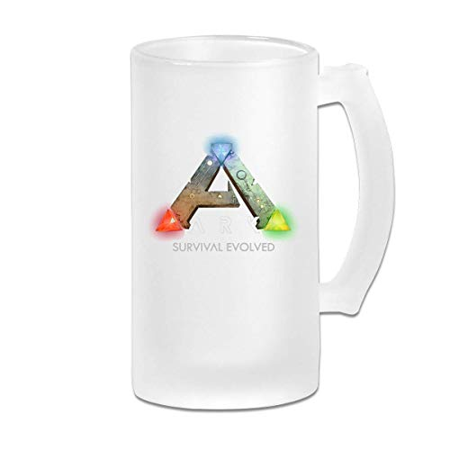 Gedruckte 16oz Milchglas Bier Stein Tasse Tasse - ARK Survival Evolved Logo 1 - Grafikbecher