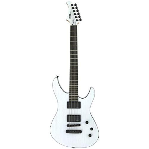 FGN JMY2ASHE Open Pore White Elektrische Gitarre Weiß Double Cut mit Tasche