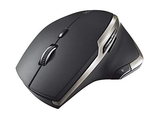 Trust Evo kabellose Laser-Maus (bis zu 2400 dpi, 6 Tasten, Laser Sensor) schwarz