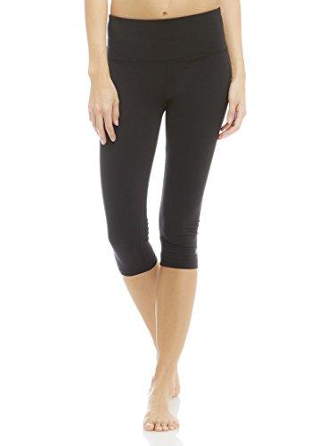 Marika Women's Brooke High Rise Tummy Control Capri Legging, Black, X-Large