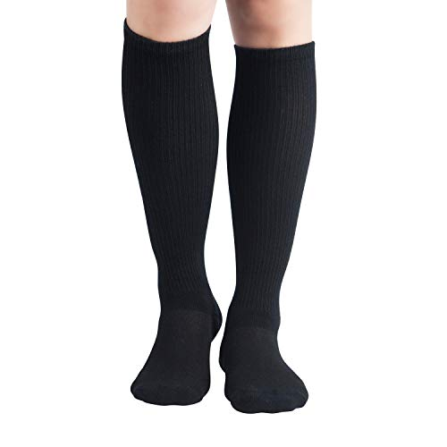 +MD 6Pairs Bamboo Moisture Wicking Compression Socks 8-15 mmHg for Men Knee High Socks 10-13 2Black2Grey2White