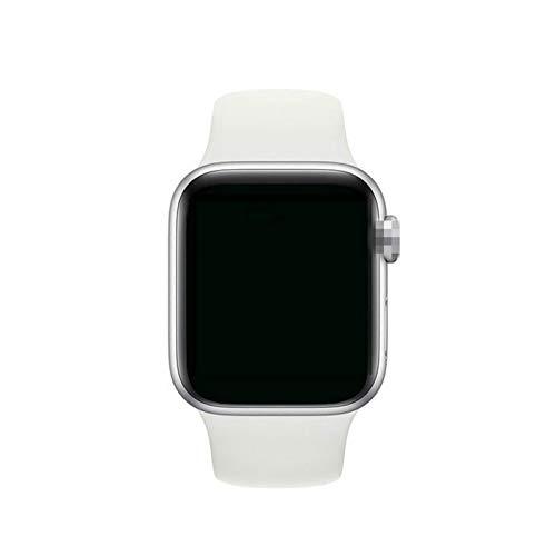 YNLRY Reloj inteligente con Bluetooth para mujer, ritmo cardíaco, fitness, presión arterial, impermeable, para hombre, para Apple IOS Android (color: blanco)