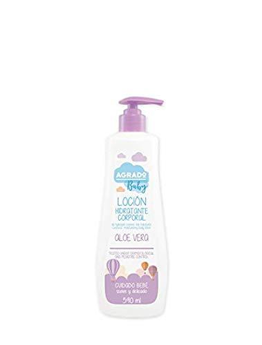 Lait hydratant bébé, Crème hydratant aloe vera peaux sensibles et atopiques Sans allergènes ni parabens - AGRADO BABY