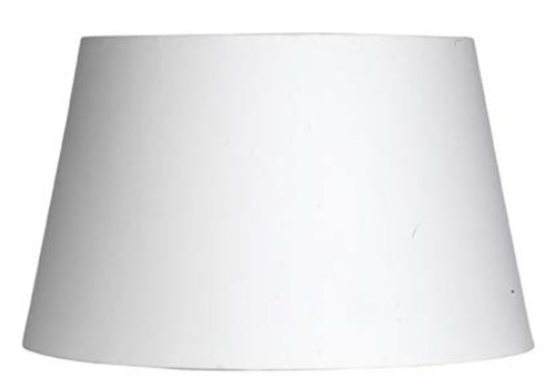 Oaks Lighting Lampenschirm aus Baumwolle, zylindrisch, weiß