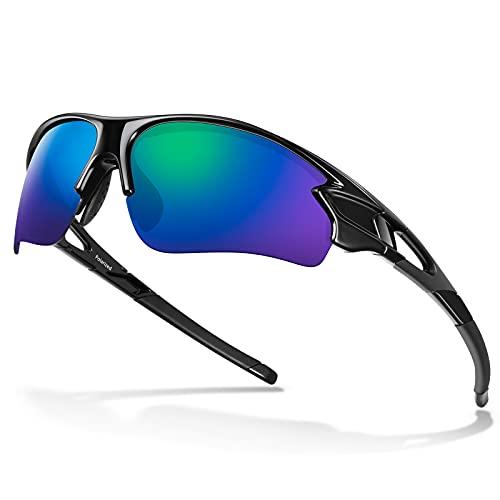 Gafas de Sol Polarizadas - Bea·CooL Gafas de Sol Deportivas Unisex Protección UV con Monturas Ligeras para Esquiando Ciclismo Carrera Surf Golf Conduciendo (Negro azul)