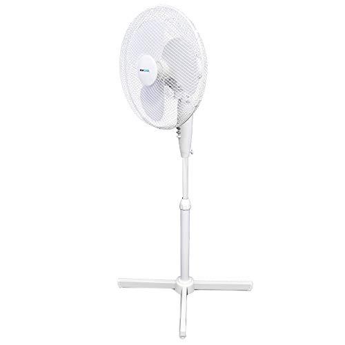 STAYCOOL Lloytron F1221WH Stay Cool Pedestal Fan, 50 W, White, Plastic,