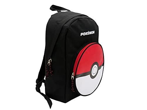 Pokémon, Mochila Juvenil Pokeball Producto Oficial Pokémon Adaptable a Trolley de Color Negro (CyP Brands)