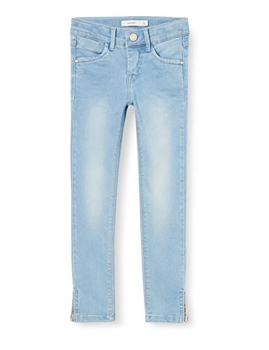 NAME IT Mädchen NKFPOLLY DNMTIA 1319 ANCLE PANT NOOS Jeans, Light Blue Denim, 122