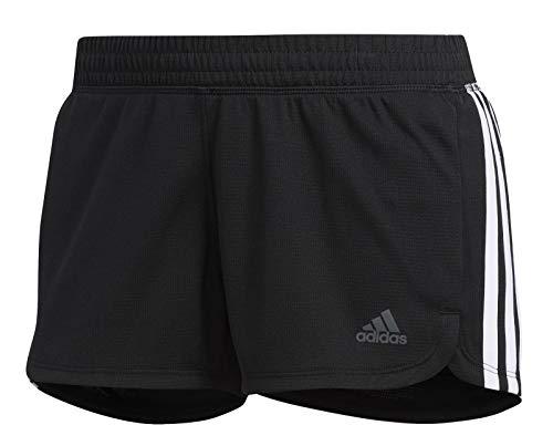 Adidas Pacer 3 Stripe Knit, Shorts Donna, Black/White, XS/36-38