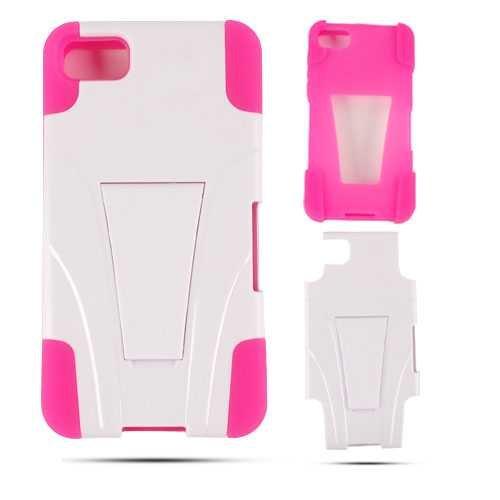 Cell Armor BBZ10-PC-JELLY-03-MA-A017-BH Schutzhülle mit Ständer für BlackBerry Z10, in Einzelhandelsverpackung, Magenta/Weiß