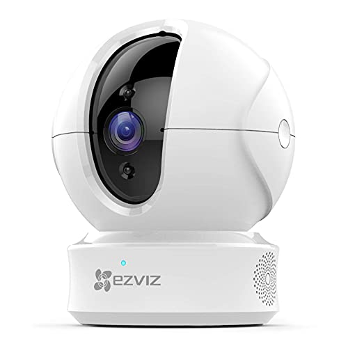 EZVIZ C6CN 1080p Indoor Pan/Tilt 360° Full Room Coverage Auto Motion Tracking Full Duplex Two-Way Audio Clear 30ft Night Vision Supports Micro SD Card up to 128GB 2.4GHz WiFi Wireless Security Camera