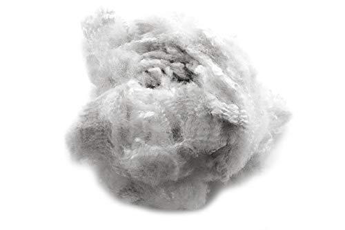 1kg Bastelwatte Polyesterhohlfasern, Waschbare Watte zum basteln, Kissenfüllung, Füllwatte Made in Germany, Füllung für Kopfkissen, Füllmaterial