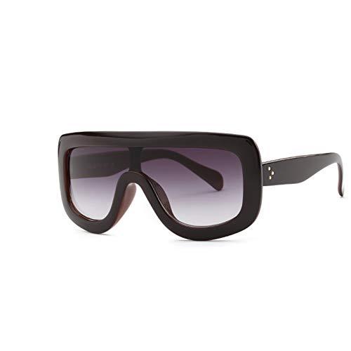 DNAMAZ Gafas de Sol de Lujo cuadradas para Mujeres Gafas de Sol para Mujer Sombras de Marco Grande Gafas de Sol de gradiente (Lenses Color : Purple Red)