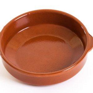 Plat en terre cuite GD Diam. 32 cm – Haut. 9 cm – 8 à 10 pers.