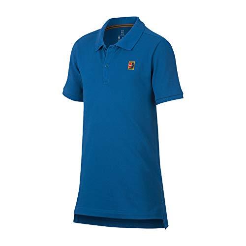 Nike Jungen Heritage Poloshirt, Blau, XS