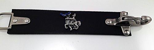 Vest Extender • Kutten Erweiterung • Leder • Karabiner Haken • Clasp (Blue Knight (blauer Ritter))