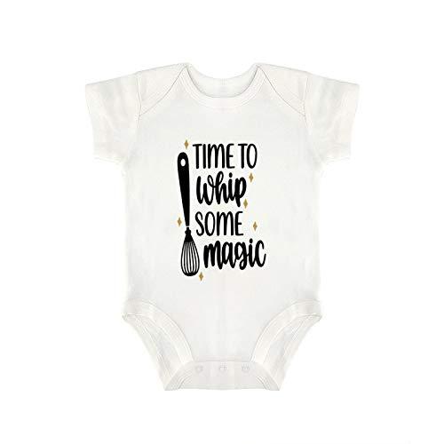 DKISEE Novedad encantador bebé mono – divertido tiempo para batir algunos magia bebé niño y niña bebé mono 12 meses