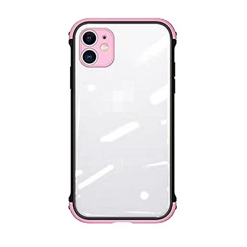 スマホケースカバー・Apple iPhone13 mini用 耐衝撃 クリア ケース/カバー TPU&アクリル 透明ケースアイフォン13ミニ ケース おしゃれ アップル スマホ スマートフォンケース/カバー[iPhone 13 mini(ピンク)]