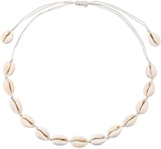 ASELFAD Natural Cowrie Shell Necklace Handmade Adjustable...