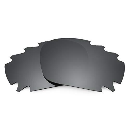 Revant Verres de Rechange Compatibles avec Oakley Racing Jacket Vented, Polarisés, Chrome Noir MirrorShield