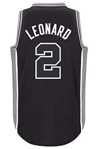 FMSports Herren Basketball Trikots - NBA San Antonio Spurs # 2 Kawhi Leonard Swingman Shirt Ärmelloses Trikot,M~170~175cm