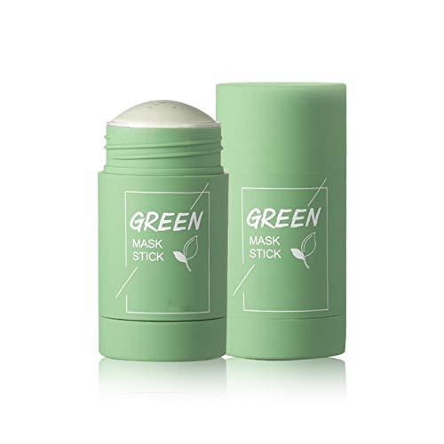 Yagerod 2 STK. Grüner Tee Purifying Clay Stick Mask Ölkontrolle Anti-Akne Aubergine Solid Fine Moisturizer Tiefenreinigende Gesichtsmaske, 2 * 40g Green Tea