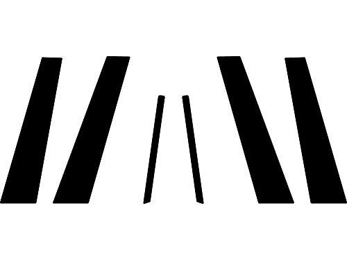 Rvinyl Rtrim Pillar Post Decal Trim for Kia Optima 2011-2015 - Carbon Fiber 4D (Black)