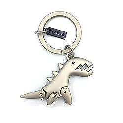 5. MUAMAX Metal Dinosaur Keychain Pendant