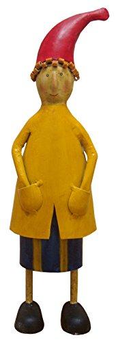 Blechfigur Dekofigur Gartendeko Metall Figur Männlein Zwerg Handarbeit bunt Bemalt Höhe ca 33cm - Gall & Zick