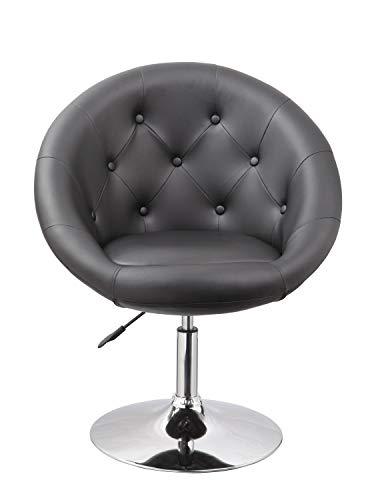 Duhome Sessel Farbenvielfalt höhenverstellbar Kunstleder Clubsessel Coctailsessel Loungesessel - TYP 509A, Farbe:Schwarz, Material:Kunstleder