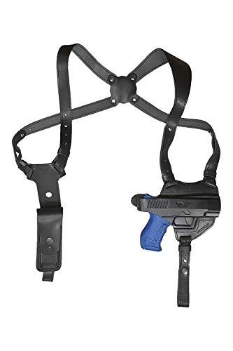 VlaMiTex S5 Pistolera para Hombro, Cuero, para Walther P99 / PPQ M2, Color Negro