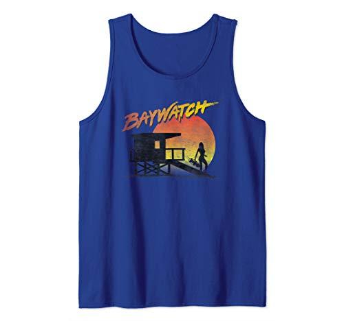 Baywatch Lifeguard Sunset Tank Top, 6 Colors, Men, Women