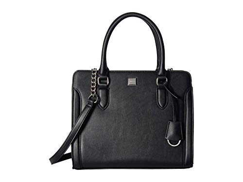 Strut around with the Nine West® Coralia Me Time Satchel faux-leather handbag by your side! Dual carry handles and a removable crossbody strap with chain detail. Exterior boasts brand detail and tag decor. Lined interior features two zipper pockets a...