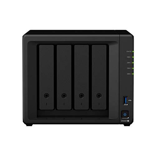 Synology DS420+/12TB IW 4 Bay NAS-System für IT-Interessierte und Heimanwender mit 4 x 3TB Seagate IronWolf Festplatten