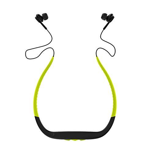 Gazechimp [2020 Actualizado Auriculares Deportivos con Micrófono, Auriculares Bluetooth 5.0, Tiempo de Reproducción 6H, IPX8 a Prueba de Agua, Auriculares Inal - Verde