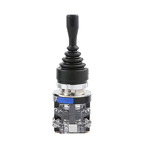 Interruptor de palanca de mando, palanca de mando de retorno por resorte Interruptor de palanca de mando con orificio de montaje de 30 mm de diámetro para automatización y campo de seguridad (4 posic