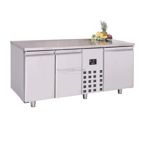Table réfrigérée négative 3 portes mono-bloc - Combisteel - R290 3 Portes Pleine
