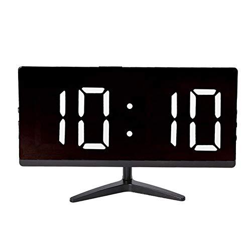 XXLYY Reloj LED Multifuncional, Reloj Despertador Digital con Pantalla de Temperatura para la decoración del Dormitorio del hogar (luz Blanca y Negra)