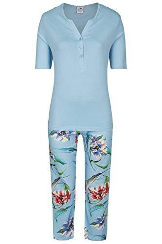La plus belle Damen Pyjama mit 7/8 Hose caribic 42 0281221, caribic, 42