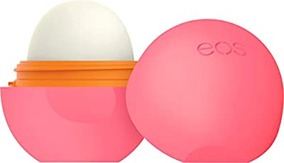 eos Super Soft Shea Sphere Lip Balm - Strawberry Peach | Deeply Hydrates and Seals in Moisture | Sustainably-Sourced Ingredients | 0.25 oz