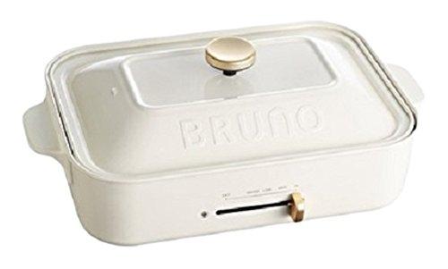 BRUNO コンパクトホットプレート ホワイト 平面 たこ焼き プレート セット BOE021-WH