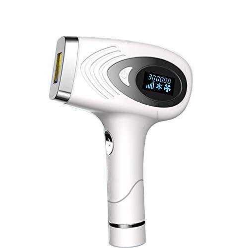 Laser-Haarentfernungsgerät Permanentes Haarentfernungsgerät mit 500000 Blitzen Permanenter IPL-Haarentferner für Gesicht, Achsel, Arm, Brust, Rücken, Bikinizone und Bein- und Augenmassagegerät, Weiß