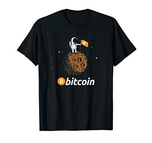 Bitcoin BTC Crypto to the Moon Shirt Featuring Astronaut T-Shirt