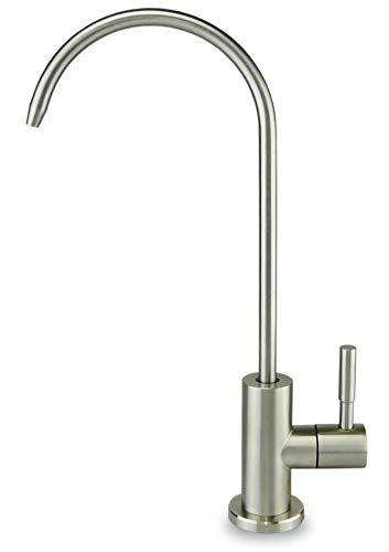 smardy UNO201 Grifo de Cocina, Acero inoxidable, Giratorio 360° para osmosis inversa Agua Purificada (RO) 1/4Zoll - 6,35mm