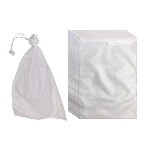 MagiDeal Bolsas de Red de jardín Paquete de 100, Bolsa con cordón para Proteger Semillas de Plantas, Flores, Vegetales, Reutilizables - 200x300mm
